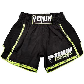 Venum Training Camp Muay Thai Shorts Black/Neo giallo