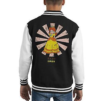 Princess Daisy Retro Japanese Mario Kid's Varsity Jacket