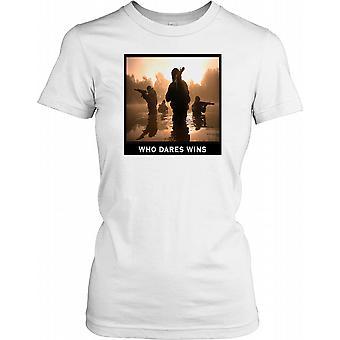 SAS Motto - som våger vinner damer T skjorte