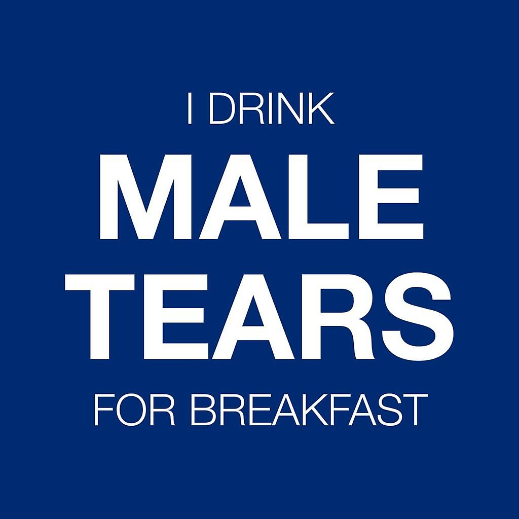 Anti Men I Drink Male Tears For Breakfast Men's Hooded Sweatshirt