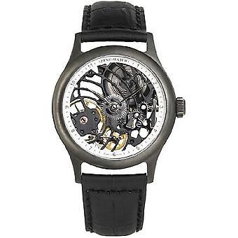 Zeno-watch mens watch medium size skeleton black limited edition 4187S-bk