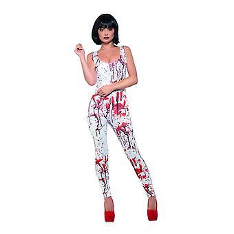 Traje de las señoras de Blutverschmiertes sangre carnaval Gore Halloween traje