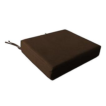Foam Wheelchair Seat Cushion in Cotton Cover - Chocolate