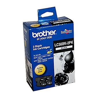 Brother LC38 Black Twin Pack