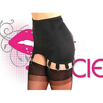 Nancies Lingerie 10 Strap Lycra Hosiery Shapewear Girdle with Garters