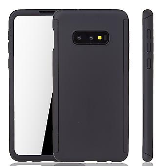 Samsung Galaxy S10e Phone Case Protection Case Full Cover Tank Protection Foil Noir