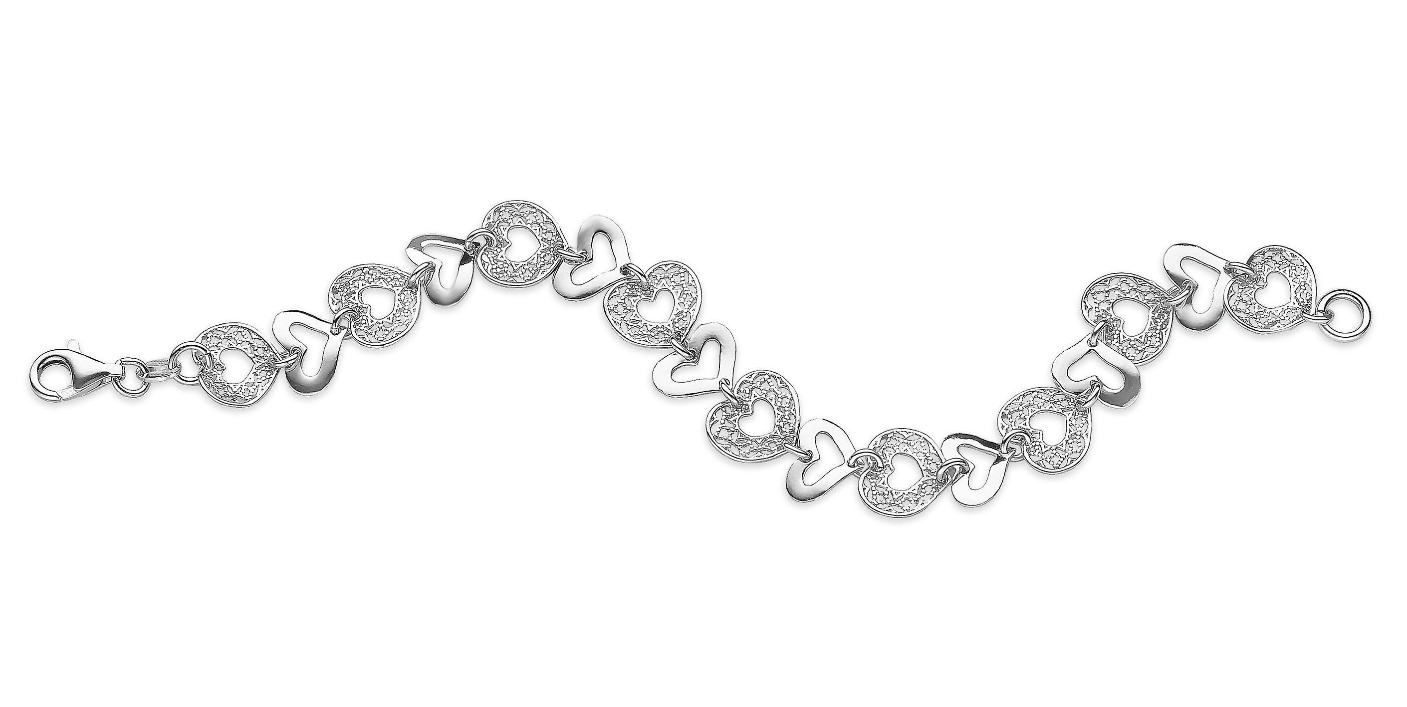 Orphelia Bracelet Coeurs 19 Cm