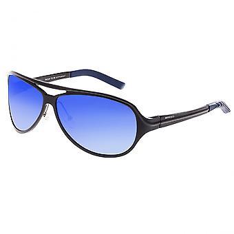 Breed Langston Aluminium Polarized Sunglasses - Black/Blue