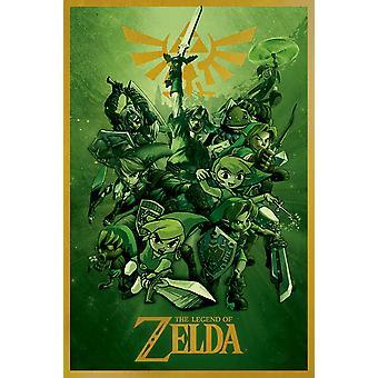 Poster - Studio B - Zelda - Links (Green) 36x24