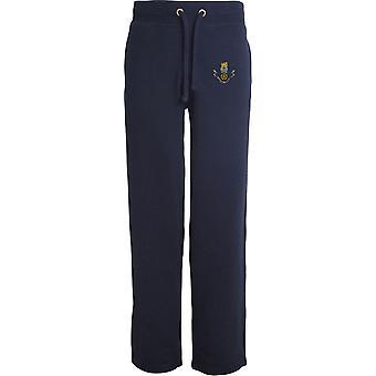 Loyal Regiment - Licensed British Army Embroidered Open Hem Sweatpants / Jogging Bottoms