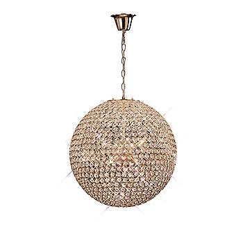 Diyas Ava Pendant 9 Light French Gold/Crystal