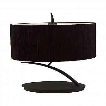 Mantra Eve Table Lamp 2 Light E27 Small, Antracite With Black Oval Shade Mantra Eve Table Lamp 2 Light E27 Small, Antracite With Black Oval Shade Mantra Eve Table Lamp 2 Light E27 Small, Antracite With Black Oval Shade Mantra Eve