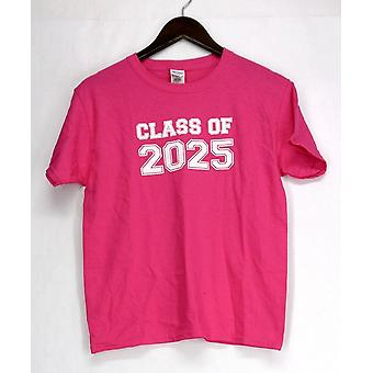 Gildan T-Shirt Top Youth Short Sleeve Tee Classe 2025 Rosa