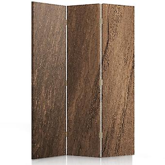 Room Divider, 3 Panels, Double-Sided, Canvas, Imitation Cork Trees