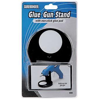 Glue Gun Stand with Non Stick Glue Pad Black 6500N