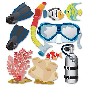 Jolee's Boutique Dimensional Stickers Snorkeling Spjb 418