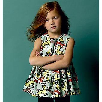 Children's Girls' Top, Tunic Dress, Belt And Leggings  6  7  8 Pattern B5877  Cl0