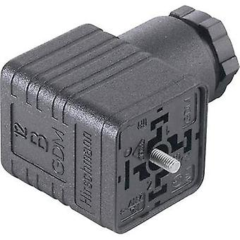 Hirschmann 931 957-100 GDM 2011 Right-angle Connector Black Number of pins:2 + PE