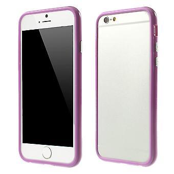 Bumper i TPU-gummi och hårdplast för Apple iPhone 6 4,7 (lila)
