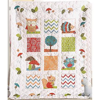 Woodland Baby Crib Cover Stamped Cross Stitch Kit-34