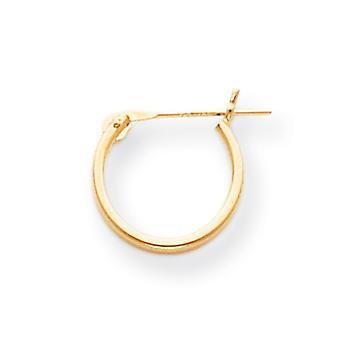 14 k guld 1,25 mm halv Hoop Øreringe -.3 gram - foranstaltninger 12x12mm