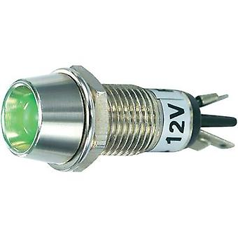 LED indicator light Green 12 Vdc SCI R9-115L 12 V GREEN