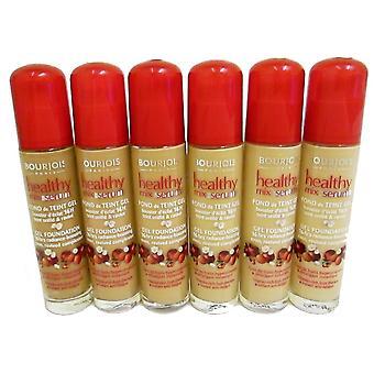3 x Bourjois frisk blandning Serum Gel Foundation 30 ml ny & förseglade - olika nyanser