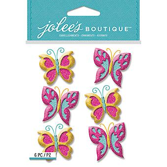 Jolee's Boutique Dimensional Stickers-Glitter Butterfly E5021937