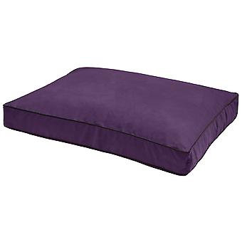 Dog Gone Smart Suede Rectangle Bed Plum 76x101x10cm