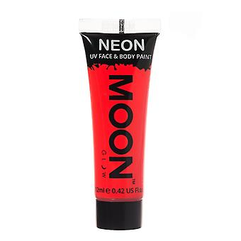 Moon Glow - 12ml Neon UV Face & Body Paint - Intense Red