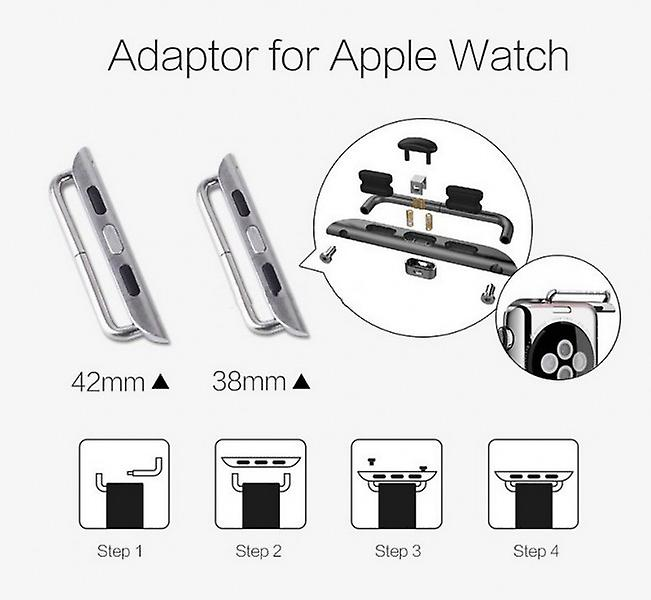 Adapter metal bracelet silver for Apple Watch 38mm