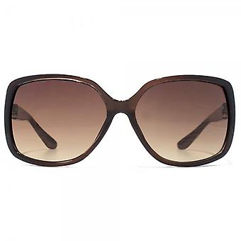 Carvela Large Square Sunglasses In Crystal Bronze