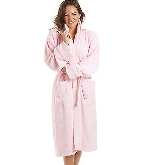 Camille  Luxury Light Pink 100% Cotton Towelling Bath Robe