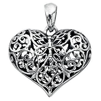925 Silver Lovely Heart Necklace