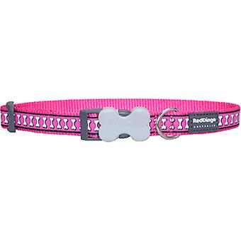 Red Dingo Fuxia Reflective Dog Collar (Dogs , Collars, Leads and Harnesses , Collars)