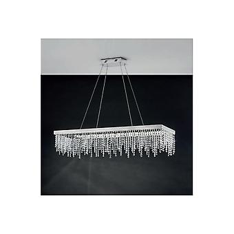 Eglo ANTELAO Crystal Rectangular Hanging Ceiling Pendant