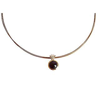 Garnet necklace grenade red garnet necklace 925 silver plated