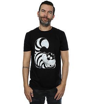 Disney Men's Alice in Wonderland Mono Cheshire Cat T-Shirt