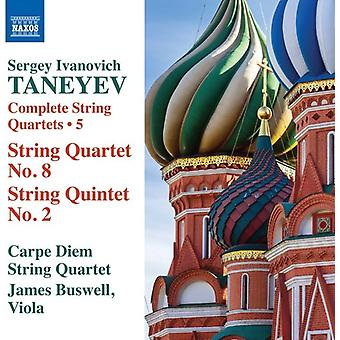 Taneyev / Carpe Diem Quartet / Buswell - Taneyev: Complete String Quartets Vol 5 [CD] USA import