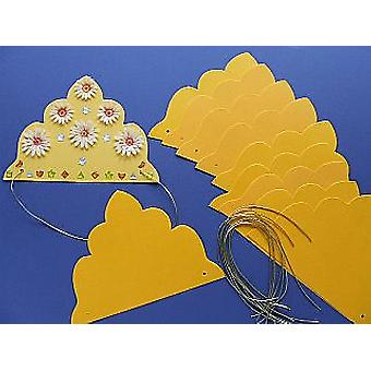 SALE - 30 Golden Yellow Tiaras to Decorate | Crown Making Crafts for Kids