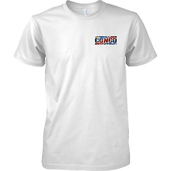 Congo Grunge paese nome effetto bandiera - petto Mens t-shirt Design