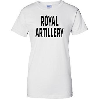 MOD con licencia - ejército británico artillería real - texto - señoras T Shirt