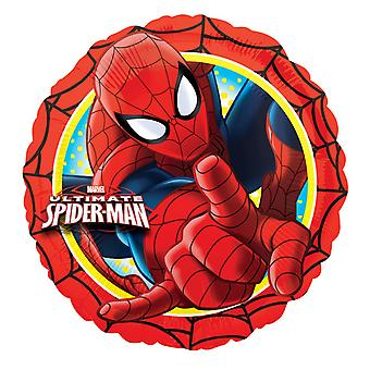 Amscan 18 Inch Marvel Ultimate Spiderman Action Circular Foil Balloon