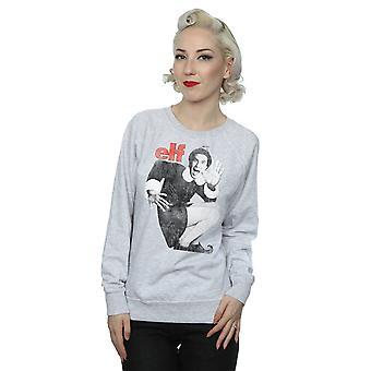 Elf Women's Mono Distressed Poster Sweatshirt
