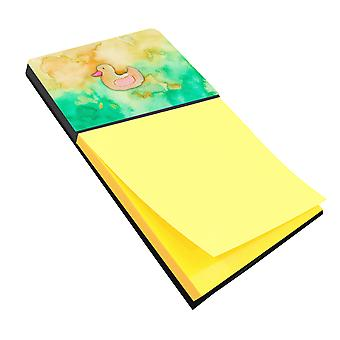 Carolines Treasures  BB7351SN Rubber Duckie Watercolor Sticky Note Holder