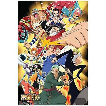 One Piece - Angriff auf Punch - Anime Plakat Poster drucken