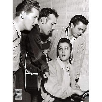 Million Dollar Quartet Elvis Cash Lewis Perkins Poster Poster Print
