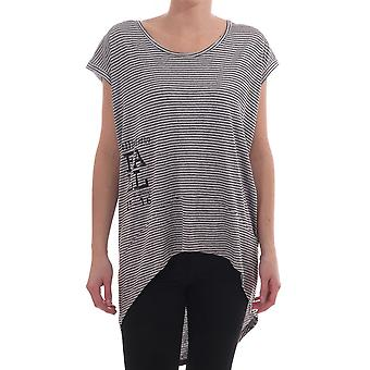Follie di Garbo Oversized T Shirt With Stripe