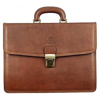 Time Resistance The Mountain Briefcase - Brown
