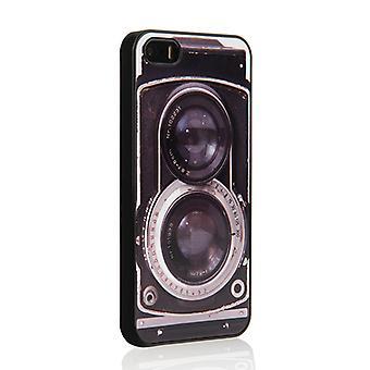 På din sag Iphone 5 / 5S sag - Retro Twin refleks kamera